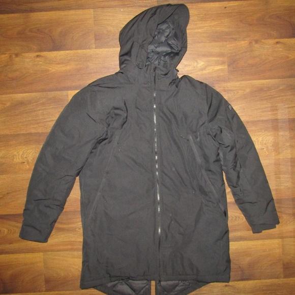 b9cf1c0f03ce Nike 550 Down Filled Hooded Parka Jacket Black L. M 5c532521c89e1d08b353ddd2